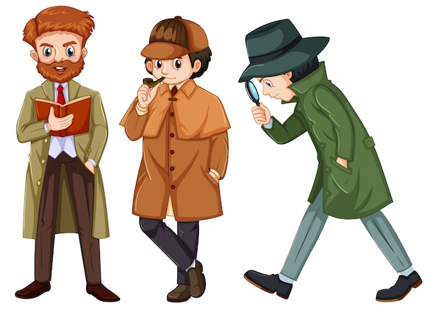 Set of detective character