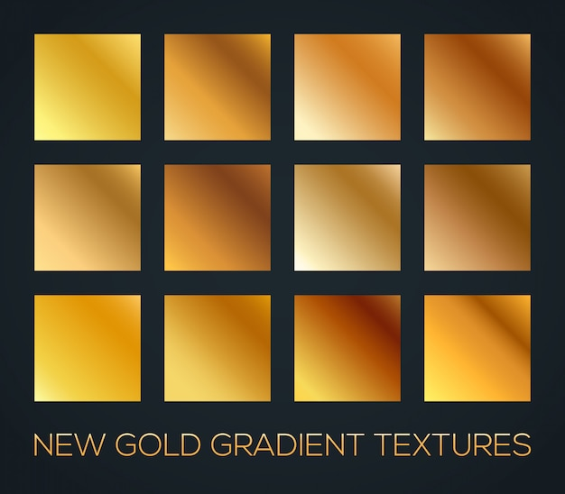 Set of diagonal gold gradients