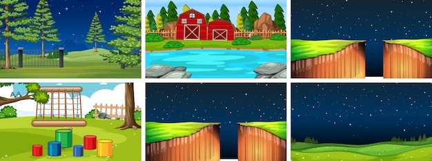 Set of different background