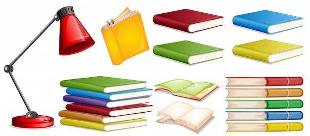 Set of different book