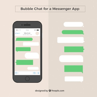 Set of different bubbles chat for messenger app