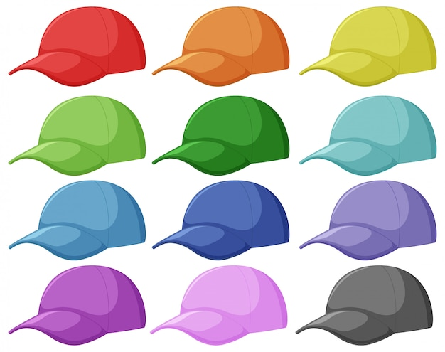 Set of different cap