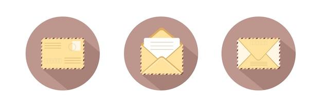 Set of different envelope