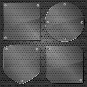 Set of different glass frames