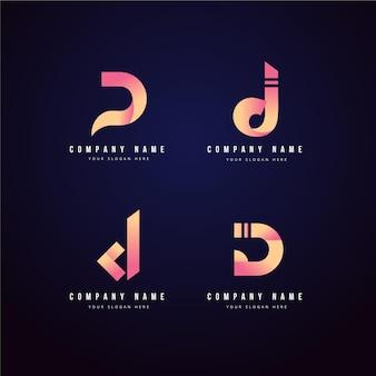 Set of different gradient d logo