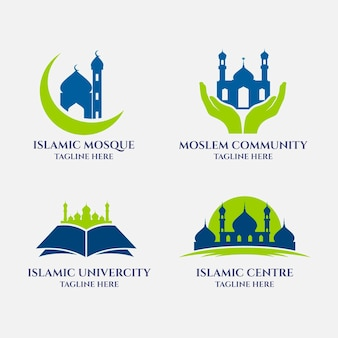 Set of different islamic logos