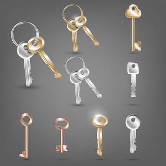 Set of different keys Premium Vector