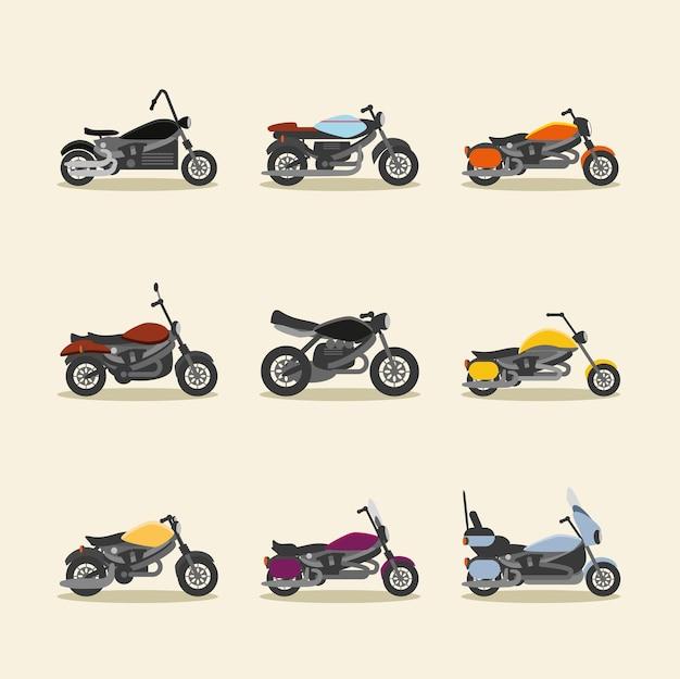 Установите разные мотоциклы