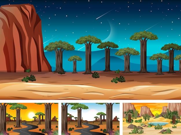 Set di scene orizzontali di natura diversa
