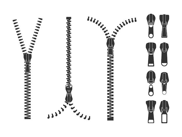 Set of different shape sliders