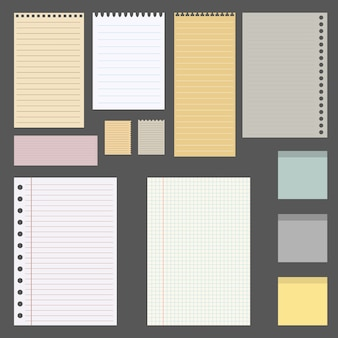 Set of different sheets