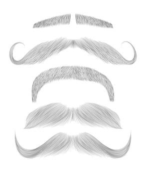 Установить разные эскиз усы.