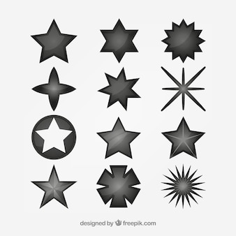 Set of different stars