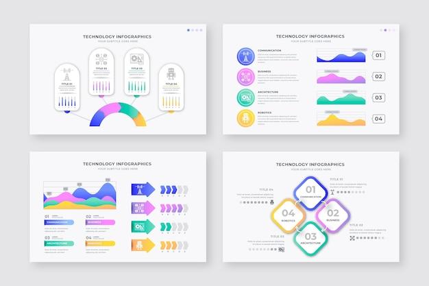Set di tecnologia diversa infografica