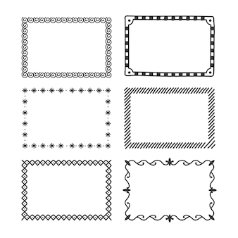 Set of different types of frame and dividers