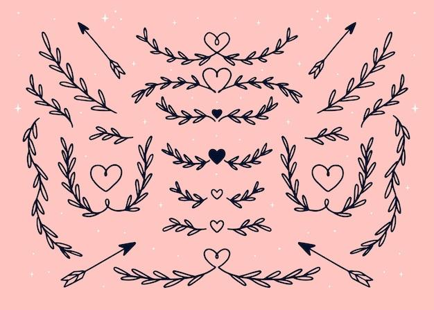 Set di diversi tipi di telaio e divisori
