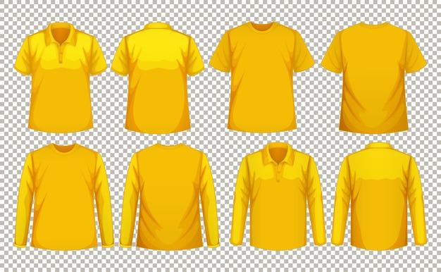 Set di diversi tipi di camicia dello stesso colore