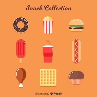 Set of different types of snacks