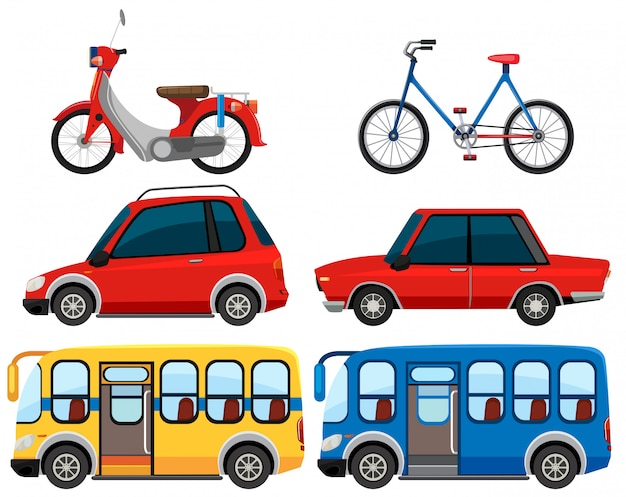 Set of different vehicle