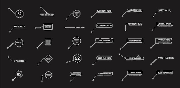 광고용 디지털 정보 소스 및 링크에 대한 디지털 설명선 각주 레이아웃 설정