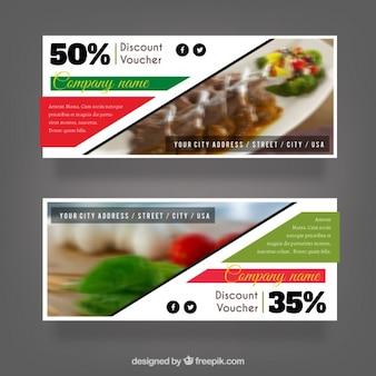 Set of discount vouchers for a restaurant