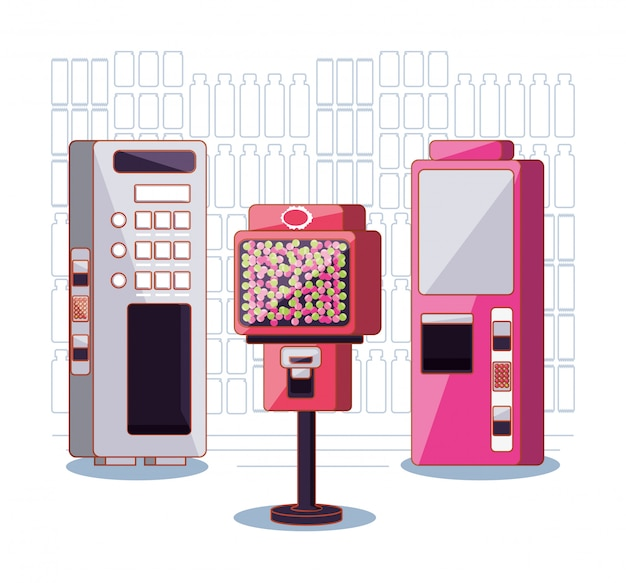 Set of dispenser machines electronics