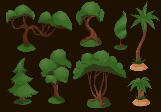 樹木の多様性を設定する図