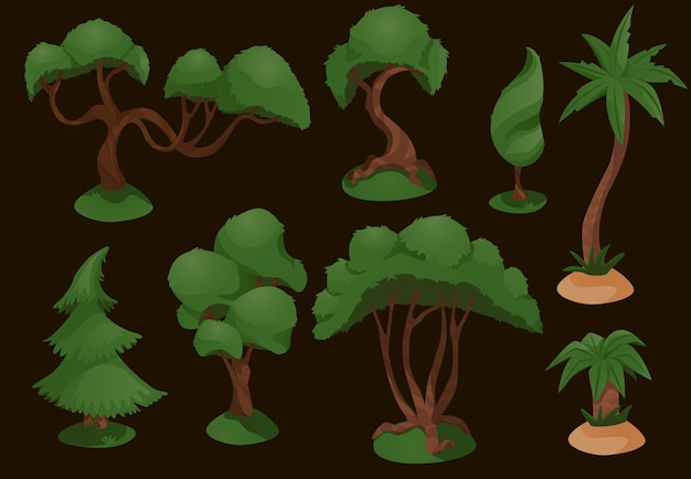 Set diversity of trees set illustration