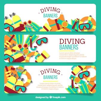Insieme di elementi di immersione banner
