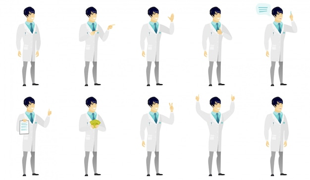 Set of  doctor characters
