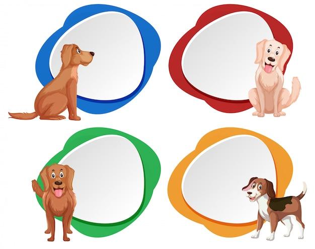 Set of dog banner