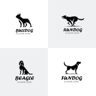 Set of dog logos