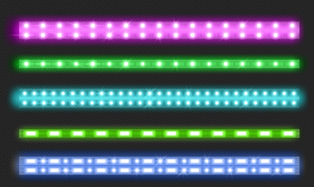 Set of double row led strips
