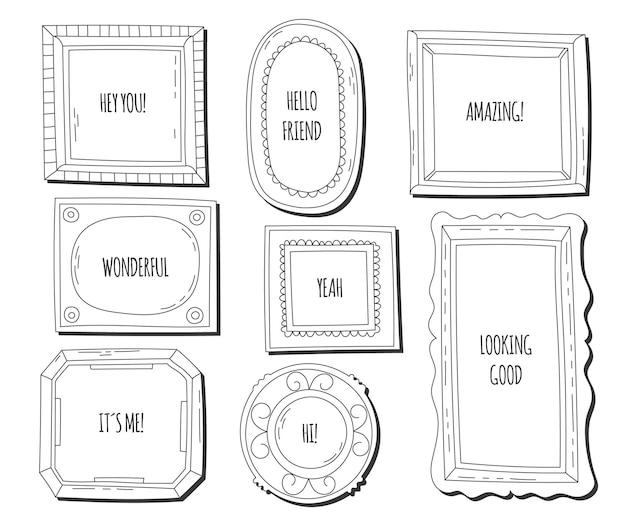 Set di cornici ornamentali disegnate