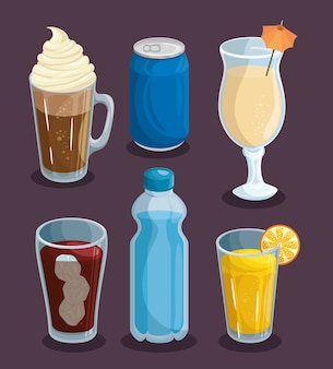 A set of drinks