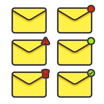 Установить значок конверта сообщения электронной почты в любом состоянии