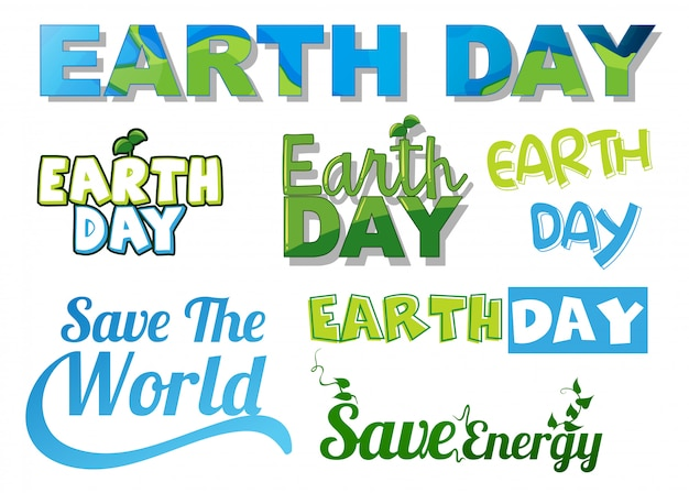 Set of earth letters