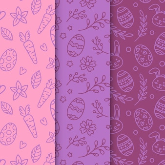 Set of easter day patterns