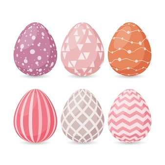 Set of easter eggs with different texture.
