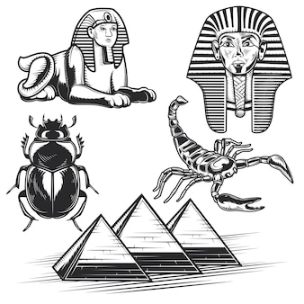 Set of egyptian elements
