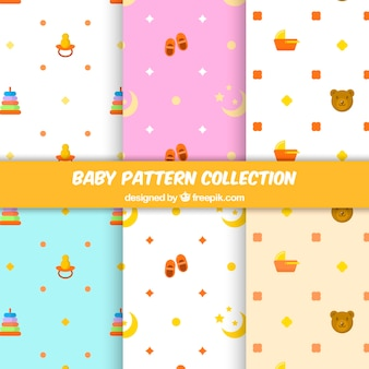 Set of elegant baby patterns