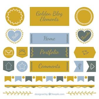 Set di elementi di blog eleganti