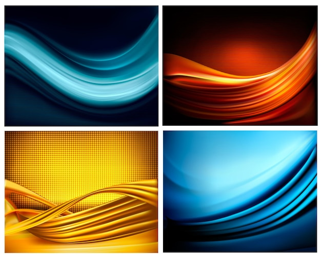 Set of  elegant colorful abstract backgrounds.