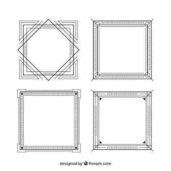 Set di cornici decorative eleganti