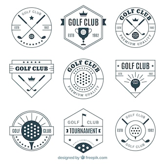 Set of elegant golf labels