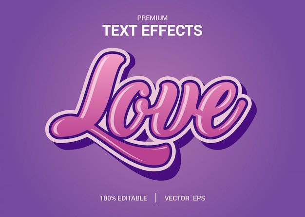 Set elegant pink purple abstract lovely text style editable font effect