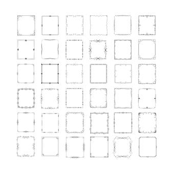 Set of elegant rectangular frames