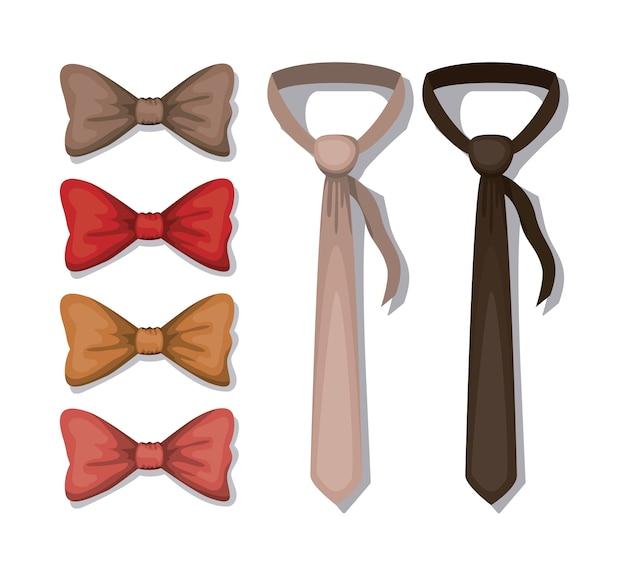 Set elegants neck wear icons