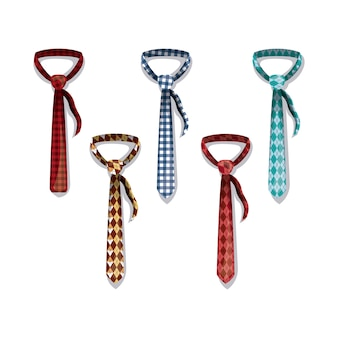 Set elegants ties icons