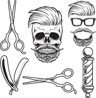 Set element skull barbershop